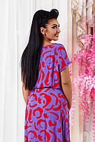 ДС447 Длинное летнее платье размеры 42-56, фото 3