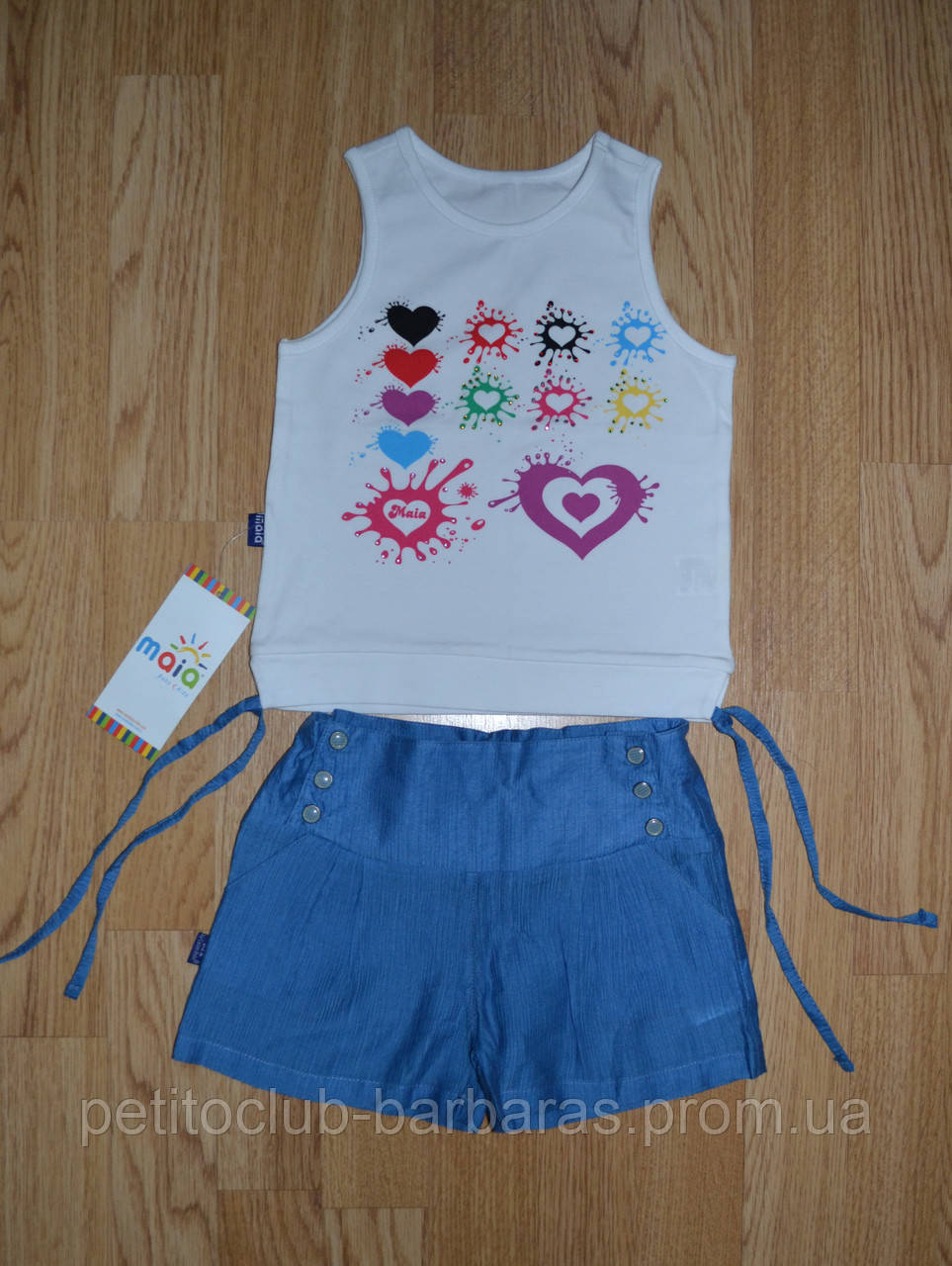 Дитячий літній комплект 2-ка для дівчинки (майка+шорти) ( Maia, Туреччина)
