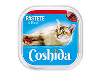Кішки повне харчування COSHIDA Katzenvollnahrung Pastete mit Rind, 100g
