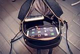 Рюкзак женский с отделкой под рептилию (серебристый), фото 8