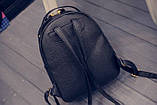Рюкзак женский с отделкой под рептилию (серебристый), фото 7