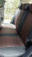 Авточехлы из экокожи черные с шоколадом на  Volkswagen Amarok с 2011-н.в. джип