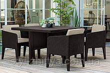 Меблі Keter Columbia Curver: стіл + 4 крісла