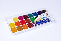 """Краски акварельные медовые 24 цвета """"Аквариум"""",""""Луч"""", в пласт. коробке, художественные краски, фото 1"""