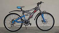 Горный спортивный велосипед 24 дюймов Azimut Wind 306-G-FR/D-1 (оборудование SHIMANO)серый***