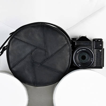 "Оригінальна кругла сумка ""Бон-Бон"" графіт"