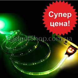 Светящийся кабель USB Micro USB, зарядка, юсб, микро, подсветкой