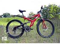 Горный спортивный велосипед 24 дюймов Azimut Wind 306-G-FR/D-1 (оборудование SHIMANO)черно-красный***