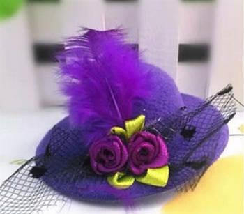 Шляпки, цветочки Fimo