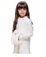 Платье с гипюром и цветами 5329 Lucas (Украина) 140 см