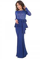 Платье в пол гипюр-баска (разные цвета)