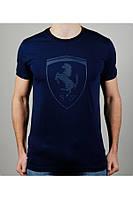Футболка мужская PUMA FERRARI 20419 темно-синяя