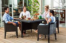 Меблі Keter Columbia Curver: стіл + 4 крісла графіт