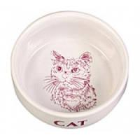 Фарфоровая миска для кошек, 300 мл, 11см