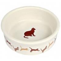 Миска для кота, керамика, 250мл, 11см