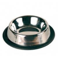Миска металлическая срезинкой для кошки, 200мл, 11см