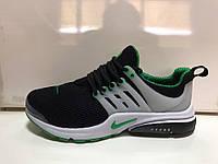 Кроссовки Nike presto найки престо черные+бел+зеленый  2017
