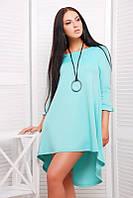 Платье короткое шлейф ментол