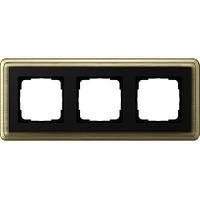 Рамка 3-пост. GIRA ClassiX бронза/чёрный