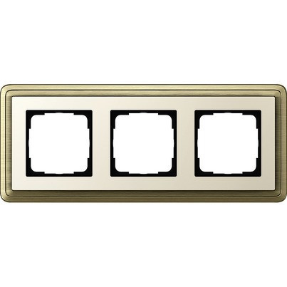 Рамка 3-пост. GIRA ClassiX бронза/кремовый
