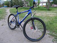 Горный спортивный велосипед 24 дюймов Azimut Dakar 335-G-FR/D-1 (оборудование SHIMANO)бело-синий ***