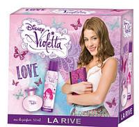 Детский набор La Rive Violetta Love 50 мл. парфюмированая вода + 151 мл дезодорант спрей