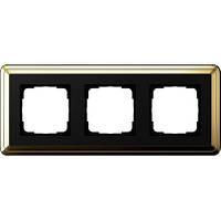 Рамка 3-пост. GIRA ClassiX латунь/чёрный
