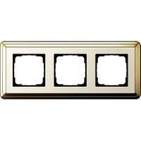 Рамка 3-пост. GIRA ClassiX латунь/кремовый