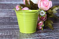 Ведерко декоративное 7см салатового цвета
