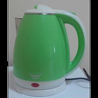 Чайник електричний нерж. с пластиковым покрытием (1,8 л; 2 кВт) Defiant DEK1820-11_зеленый