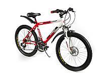 Горный спортивный велосипед 24 дюймов Azimut Dakar 335-G-FR/D-1 (оборудование SHIMANO)бело-красный ***