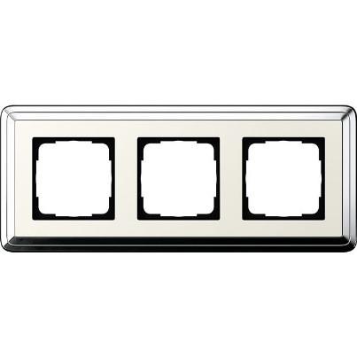 Рамка 3-пост. GIRA ClassiX хром/кремовый