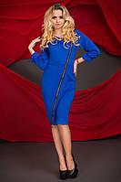 Платье из дайвинга с косой молнией (разные цвета)
