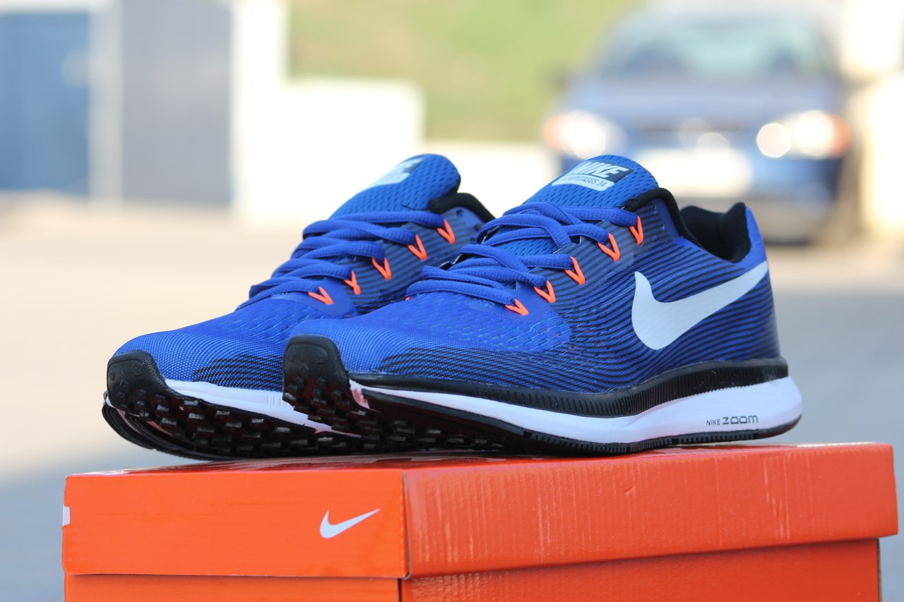 Мужские кроссовки Nike Air Zoom Pegasus 34 светло синие 43,46р -  Интернет-магазин 0fa60748988