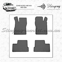 Комплект резиновых ковриков Stingray для автомобиля  Daewoo Nexia 1995-     4шт.