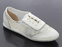 Женские балетки белого цвета