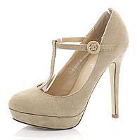 Стильные женские туфли на шпильке и платформе