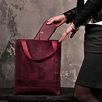 """Шкіряна сумка """"Бетсі"""" кольору виноград"""