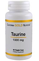 California Gold Nutrition, Таурин, 1000 мг, 60 капсул