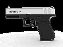 Пістолет стартовий Retay G 17, 9мм. Колір - Nickel