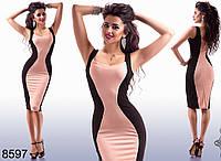 Эффектное платье с выраженной линией талии (4 расцветки)