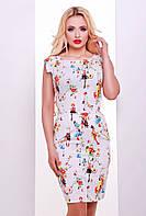 Стильное платье из стретч-коттона, сзади молния. В двух цветах
