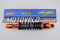 "Амортизатор GY6, DIO ZX, LEAD 320mm, тюнинговый (оранжево-черный) ""NDT"""