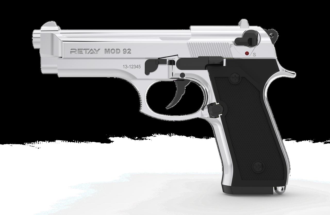 Пистолет стартовый Retay Mod.92, 9мм. Цвет - Nickel