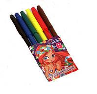 Фломастеры детские Набор из 6 цветов