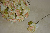 """Роза 1 шт 5*23см кремово-розового цвета """"Люкс"""""""