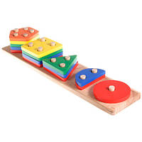 Деревянная игрушка Геометрик 5 фигур от 18 месяцев.