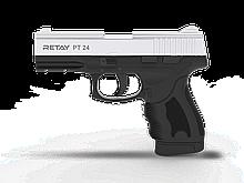 Пістолет стартовий Retay PT24, 9мм. Колір - Nickel