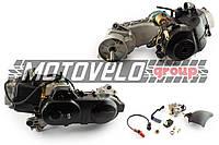 """Двигатель 4T GY6 80cc (139QMB, короткий) (10"""" колесо,карбюратор,коммутатор,катушка зажигания) """"SL"""""""