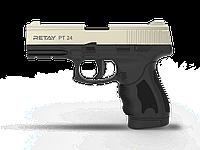 Пистолет стартовый Retay PT24, 9мм. Цвет - Satin